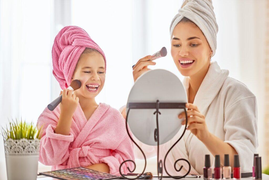 dziecko-mama-makijaż